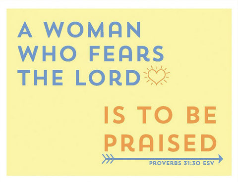A Woman Who Fears the Lord Greeting Card