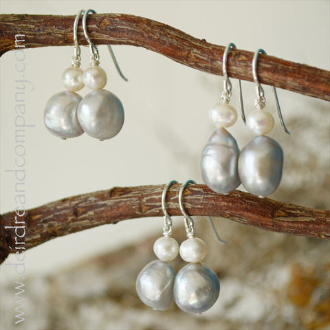 Silver Linings Pearl Earrings