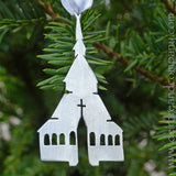 Stavkirke Ornament in Pewter