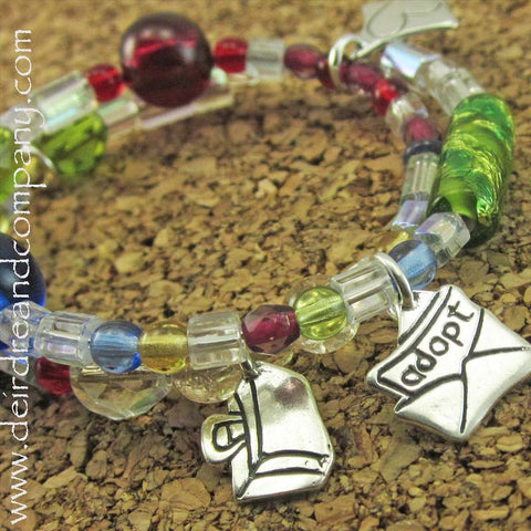 Adoption Story Silver and Beaded Bracelet