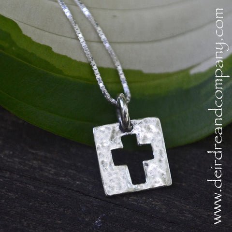 Be Amazed Sterling Cross Necklace