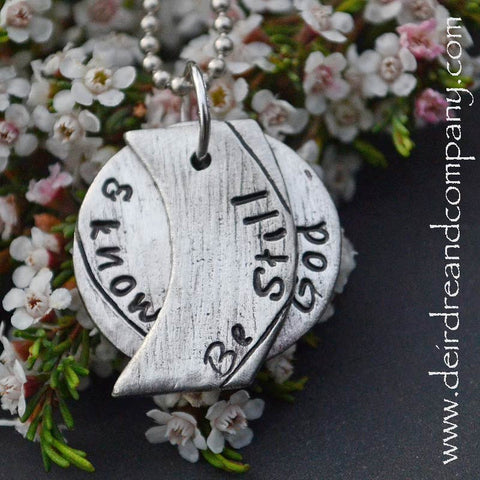 Be Still Pewter Necklace
