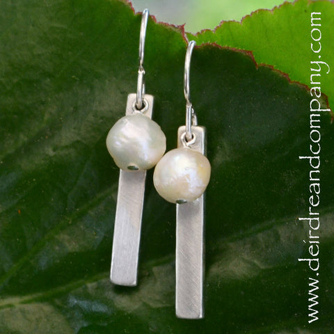 Blessing Bar Pearl Earrings