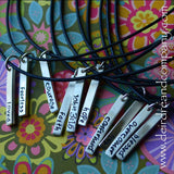 Blessing Bars Charm in Sterling ~ Blank ~ Customizable