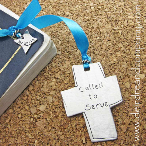 Called to Serve Pewter Bible Bookmark