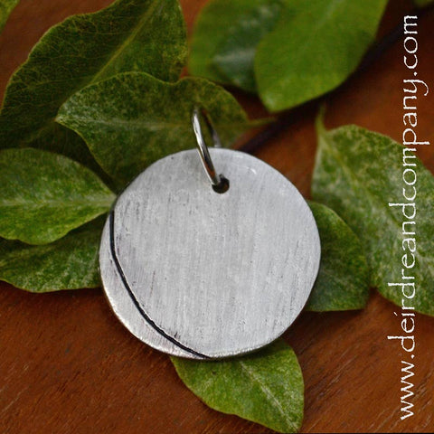 Circle Charm in Pewter, Customizable