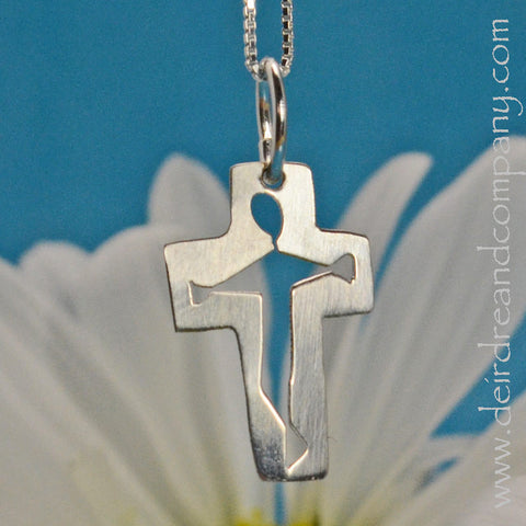 Petite Crucifix Necklace in Sterling Silver