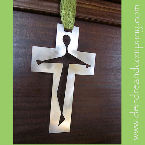 Crucifix Wall Cross in Stainless Steel