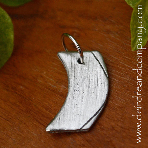Wave Charm in Pewter ~ Blank ~ Customizable