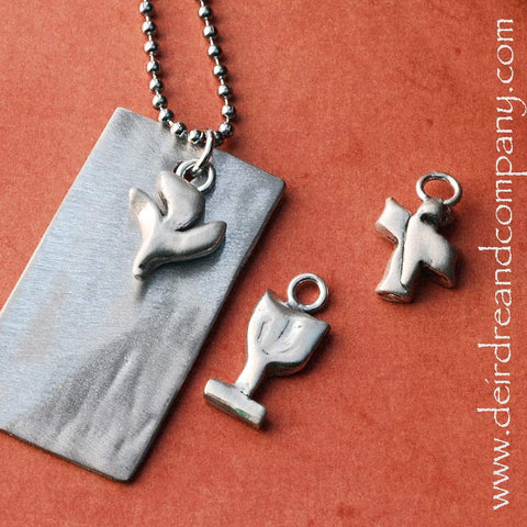Sacraments Fully Customizable Dog Tag in Pewter