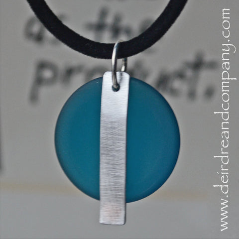 "12 Custom Word Necklaces with ""Sea"" Glass ~ Blank Charm"