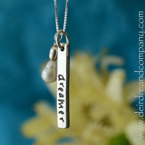 Words Necklaces ~ Blessing Bar Necklaces in Sterling Silver