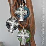"Faith Cross Necklace with Recycled ""Sea"" Glass"