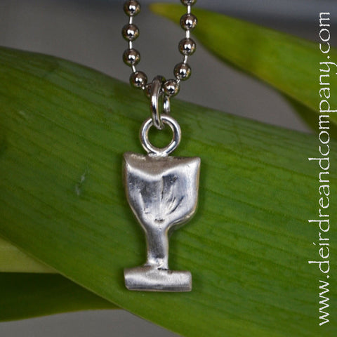 Sacraments Cup Necklace in Pewter