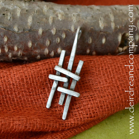 Faith Journey Marker Cross in Pewter