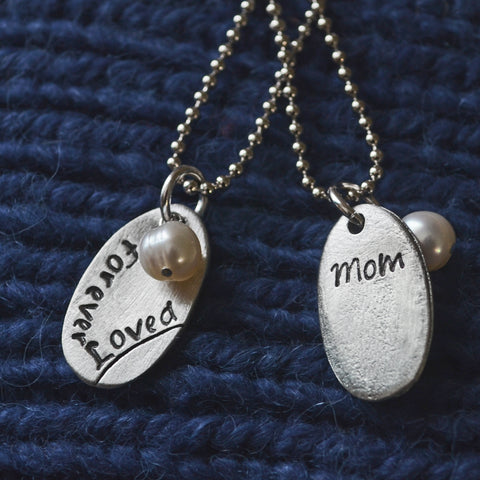 Forever Loved Necklace in Pewter