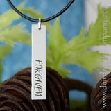 Loved and Forgiven Reversible Bar Necklace in Sterling