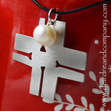 Good Friday Cross Necklace with a Pearl