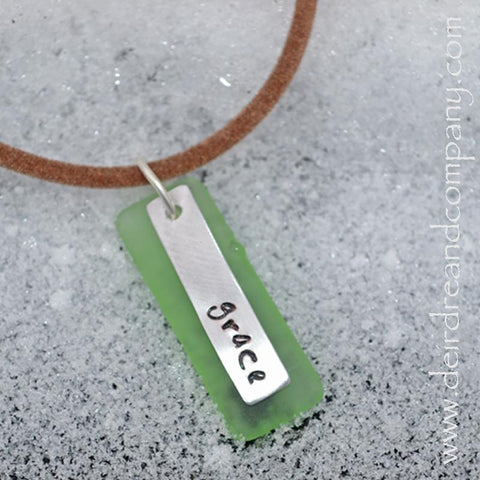 "Grace Recycled ""Sea"" Glass Necklace"