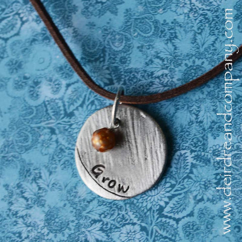 Pewter Necklace ~ Grow in Grace