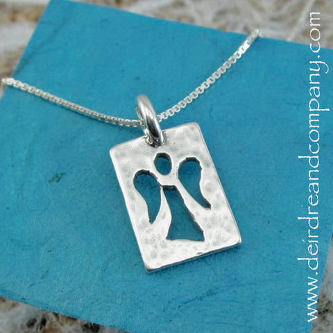 Guardian Angel Sterling Necklace