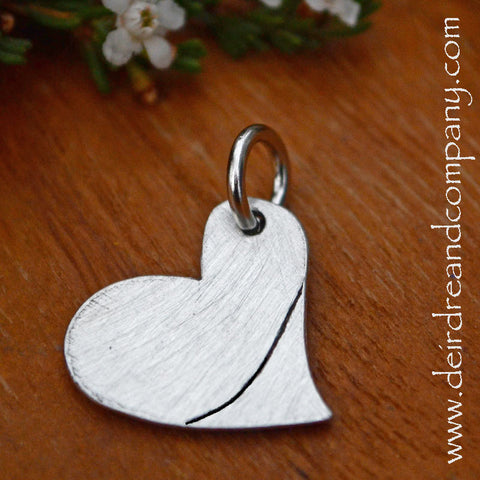 Heart Charm in Pewter ~ Blank ~ Customizable