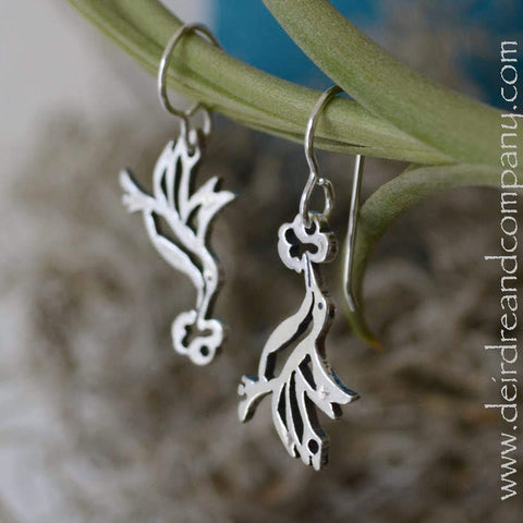 Hummingbird Earrings in Sterling Silver