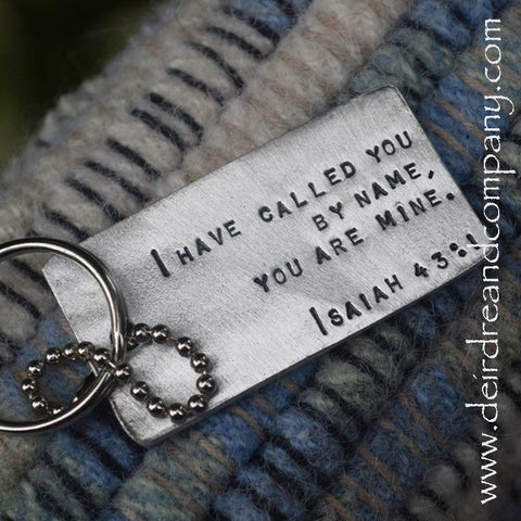 Called by Name Pewter Dog Tag Key Chain