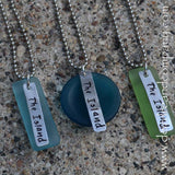 "The Island Necklace with Recycled ""Sea"" Glass"