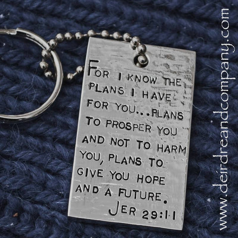 Jeremiah 29:11 Silver Plated Key Chain