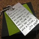 Jeremiah 29:11 Silver Plated Dog Tag
