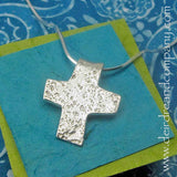 Jeremiah 6:16 Silver Cross Necklace