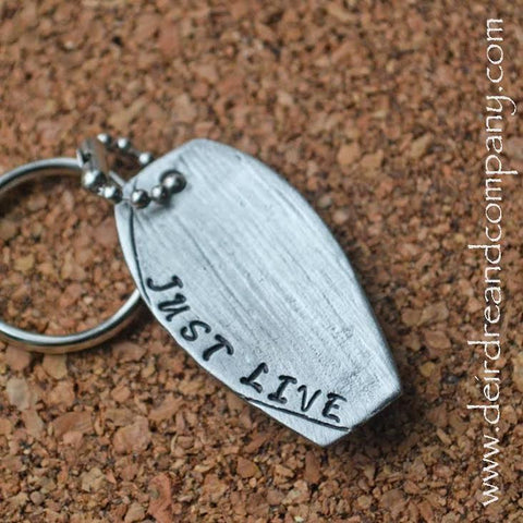 Just Live Key Chain