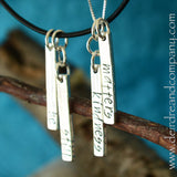 Pick the Words for Our Sterling Necklace  ~ 2 Customizable Bars