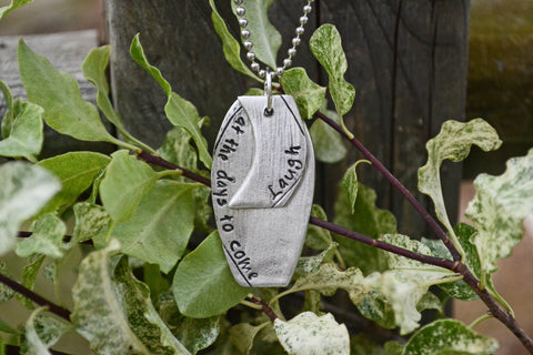 Laugh Pewter Necklace