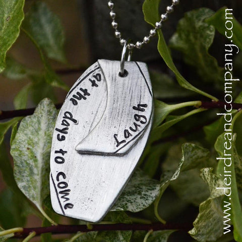 Laugh Necklace in Pewter