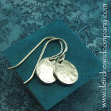 Live Simply Circle Sterling Earrings