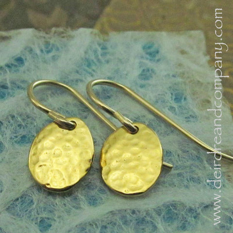 Live Simply Circle Earrings in 14K Gold Vermeil