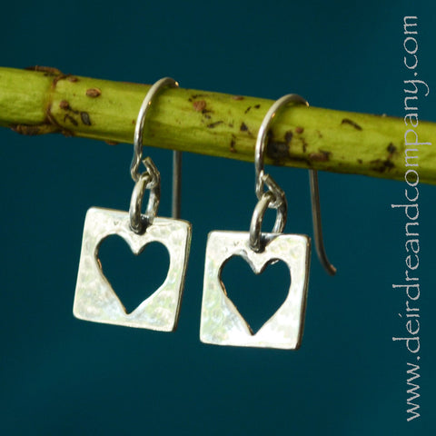 Live with an Open Heart  Earrings in Sterling