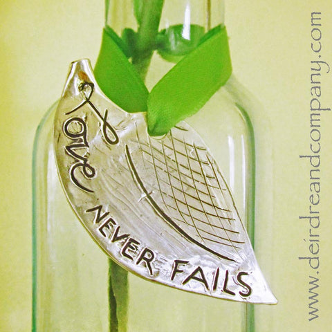 Love Never Fails Pewter Ornament