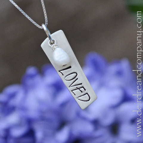 Loved Necklace in Sterling Silver