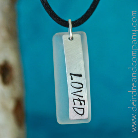 "Loved Necklace with ""Sea"" Glass"