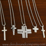 I Am with You Always Sterling Crucifix on Leather