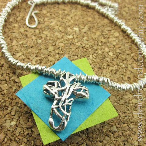 Streams of Silver Mexico Cross Necklace