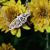 Monarch Butterfly Necklace in Sterling Silver