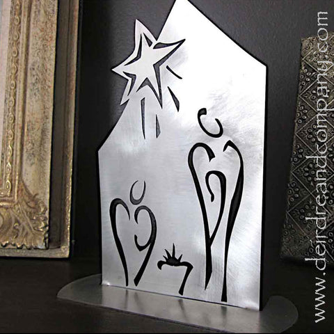 "Standing Nativity 24"" in Stainless Steel"