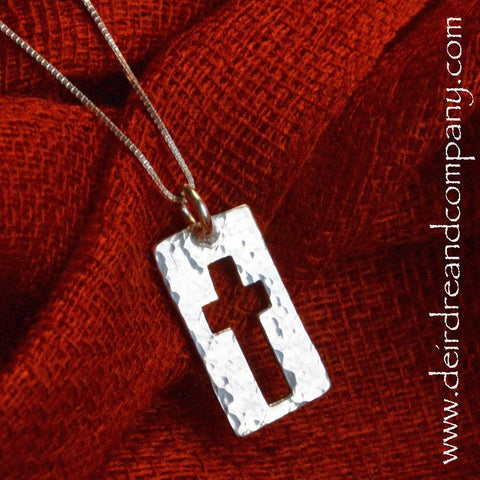 Narrow Road Cross Necklace