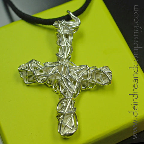 True Vine Cross Necklace ~ E