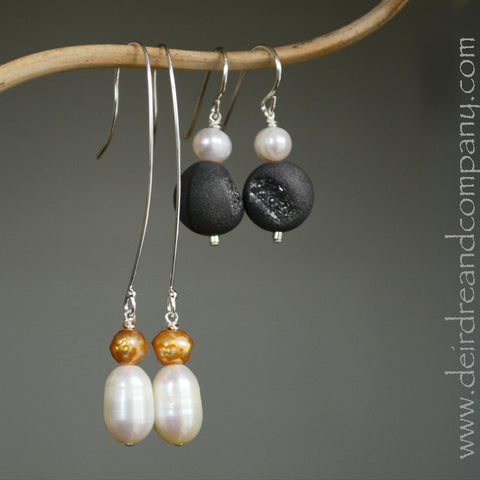 Bee Yourself Pearl Earrings