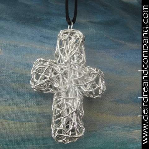 True Vine Ordination Cross in Sterling Silver